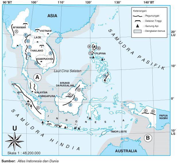 Bentang Alam Iklim Kawasan Ateng Alicia Maharani Asia Tenggara Gambar